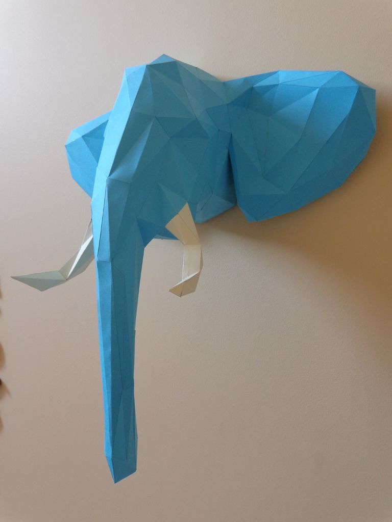 How to Make an Elephant Paper Craft Fun Crafts for Kids Welcome To The Jungle Elephant Head Papercraft 11 Steps With