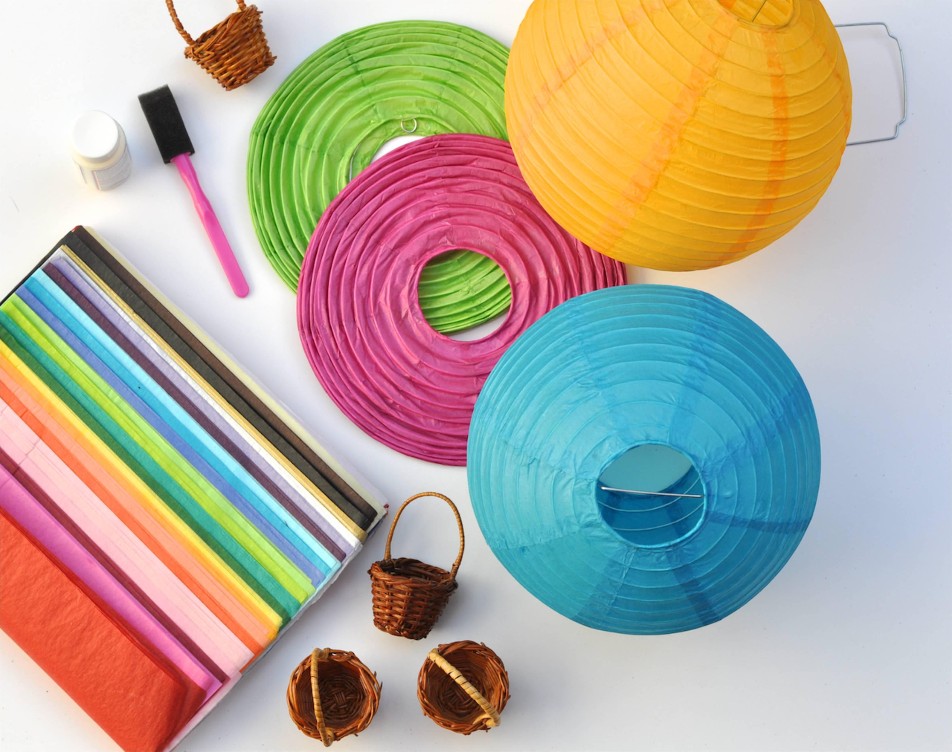 How to Make Japanese Paper Lanterns Craft for Kids Paper Lantern Diy Hot Air Balloons Tutorial