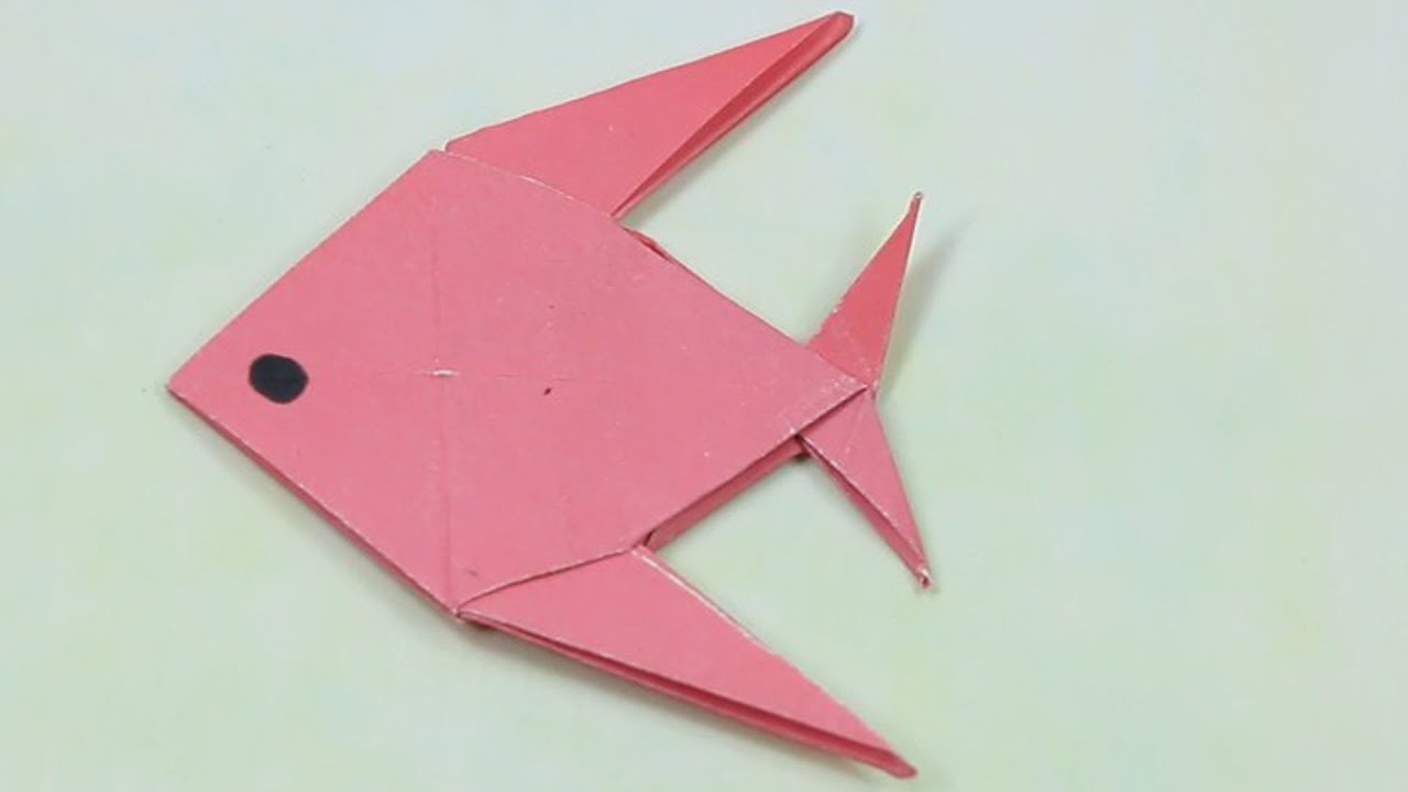 How to Make Paper Craft Fish for Kids How To Make A Paper Fish Easy Tutorialorigami Paper Folding Craft