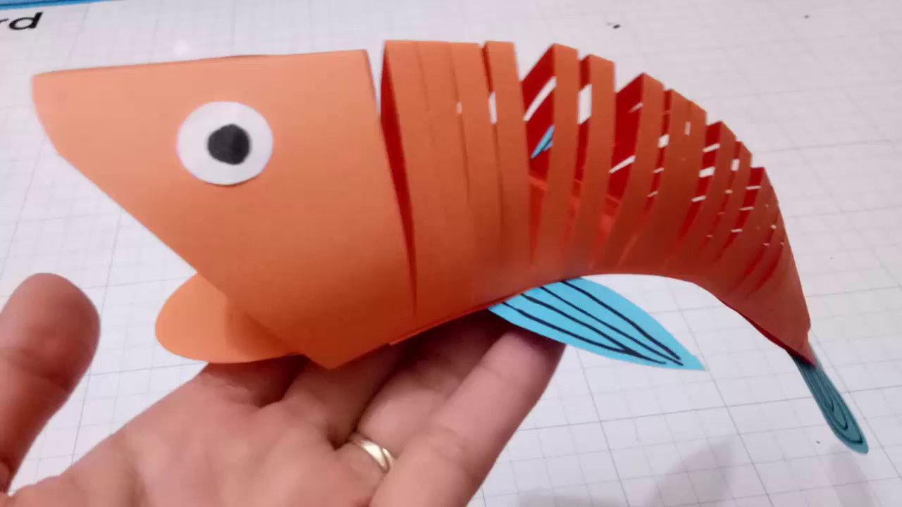 How to Make Paper Craft Fish for Kids How To Make A Paper Moving Fisheasy Crafts 3d Paper Fish For Kid