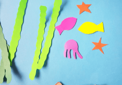 How to Make Paper Craft Fish for Kids Kindergarten Craft Easy To Make Paper Plate Aquarium