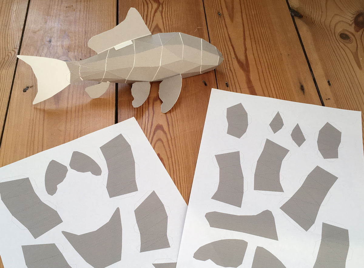 How to Make Paper Craft Fish for Kids Papercraft Fish Inductible