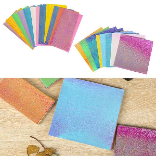Kids Paper Crafts 50pcs Origami Paper Folding Solid Color Papers Kids Handmade Diy