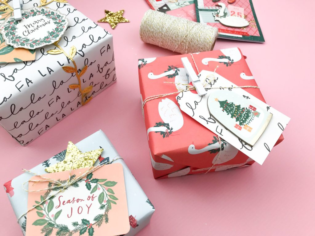 Make reuse crafts with wrapping paper leftover Christmas Craft Gift Box Decor Aspire Grace