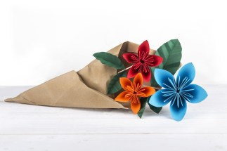 Paper Craft Flowers Bouquet Different Types Of Pretty Origami Flowers