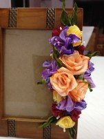 Paper Craft Flowers Bouquet Duplex Paper Flowers On A Photo Frame Flowers Pinterest Paper