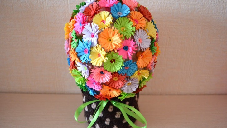 34+ Amazing Photo of Paper Craft Flowers Bouquet