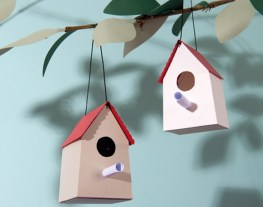 Paper Craft For Adults 8 Die Cut Card Birdhouses Craft Kit Adults Papercraft Bird Box