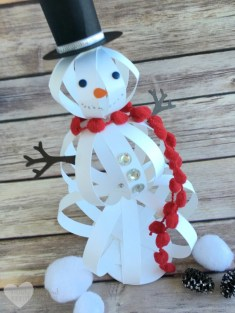 Paper Craft For Adults How To Make A Snowman Craft With Paper Strips The Crafty Blog Stalker