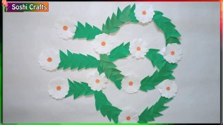 Paper Crafts For Wall Decor Decorating Wall With Paper Crafts Paper Flower Wall Hanging Craft