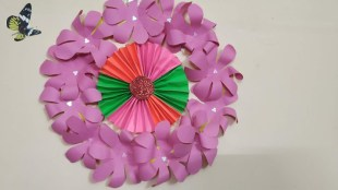 Paper Crafts For Wall Decor Handmade Wall Craft How To Learn Diy Quick And Easiest Way
