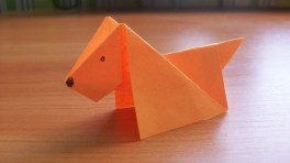 Paper Crafts Instructions Diy How To Make An Easy Paper Dog Origami Tutorial For Kids And