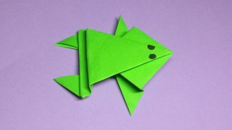 Paper Crafts Instructions Easy Tutorial Make A Paper Frog Origami Frogs Folding