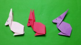Paper Crafts Instructions How To Make A Paper Rabbit Origami Rabbit Easy Instructions Step
