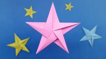 Paper Crafts Instructions How To Make Origami Star Five Pointed Paper Star Instructions