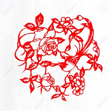 Paper Cutting Crafts Fine Spring Daythis Is A Picture Of Chinese Paper Cutting Paper