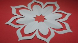 Paper Cutting Crafts How To Make Simple Easy Paper Cutting Flower Designs Paper Flower