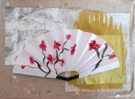 Paper Fan Craft For Kids Chinese Ornamental Fan Fun Family Crafts