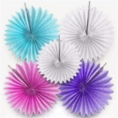 Paper Fan Craft For Kids Decorative Crafts 20cm 1pcs Flower Origami Paper Fan Wedding