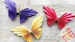 Paper Fan Craft For Kids Easy Paper Butterfly Red Ted Arts Blog