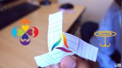 Paper Fan Craft For Kids How To Make A Rotating Paper Fan Origami Diy Kids Paper Crafts