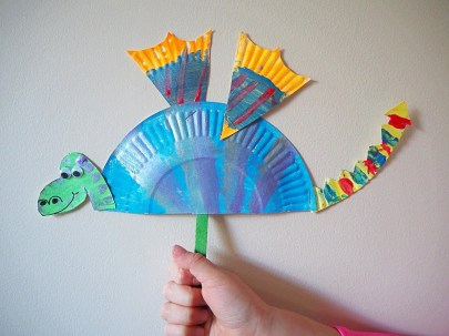 Paper Fan Craft For Kids Learn With Play At Home Simple Paper Plate Dragon Craft