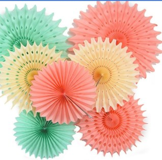 Paper Fan Craft For Kids Pretty And Fun Hanging Paper Fan For Wedding Birthday Kids Party
