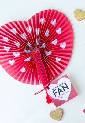 Paper Fan Craft For Kids Valentines For Kids And Free Printable Lindi Haws Of Love The Day