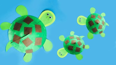 Paper Plates Arts And Crafts Paper Plate Turtle For Kids 3d Turtle For School Art Project