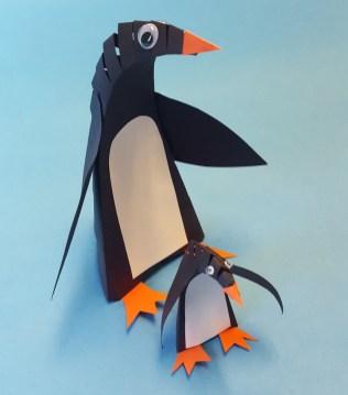 Penguin Paper Craft Diy Paper Penguin Winter Craft For Kids Ss Blog