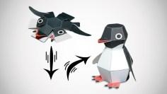 Penguin Paper Craft Penguin Bomb Pop Up Paper Craft Kit Dudeiwantthat