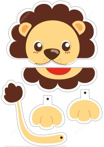 Printable Paper Crafts Templates Lion Simple Paper Craft From Animals Category Hundreds Of Free