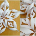 Simple Crafts Using Paper To Add New Accessory At Home A Handful Of Buttons How To Make 3d Paper Snowflakes