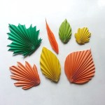 Simple Crafts Using Paper To Add New Accessory At Home Diy Paper Leaves Pattern Trick 9 Steps With Pictures