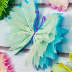 Simple Crafts Using Paper To Add New Accessory At Home Tissue Paper Butterflies Fun Paper Craft Diy