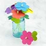 Simple paper craft for preschoolers Easy And Fun Paper Flower Bouquet Craft Fireflies And Mud Pies