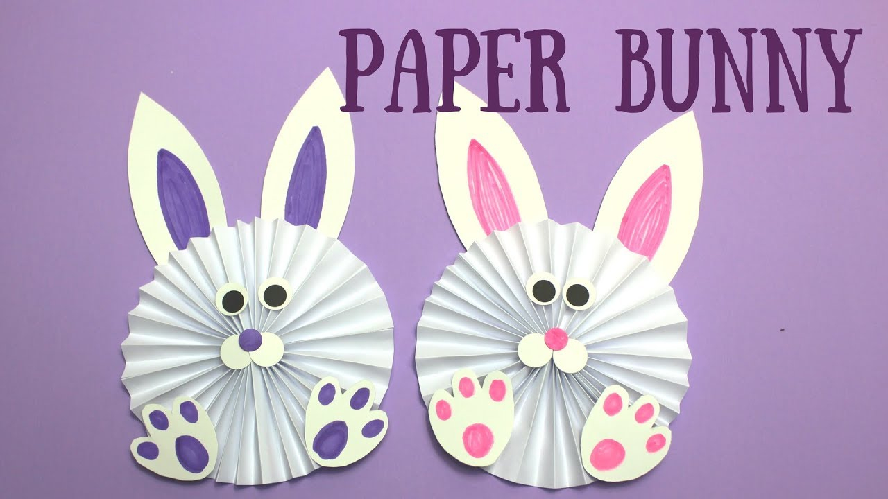 Simple paper craft for preschoolers How To Make A Paper Bunny Easy Easter Crafts For Kids Youtube