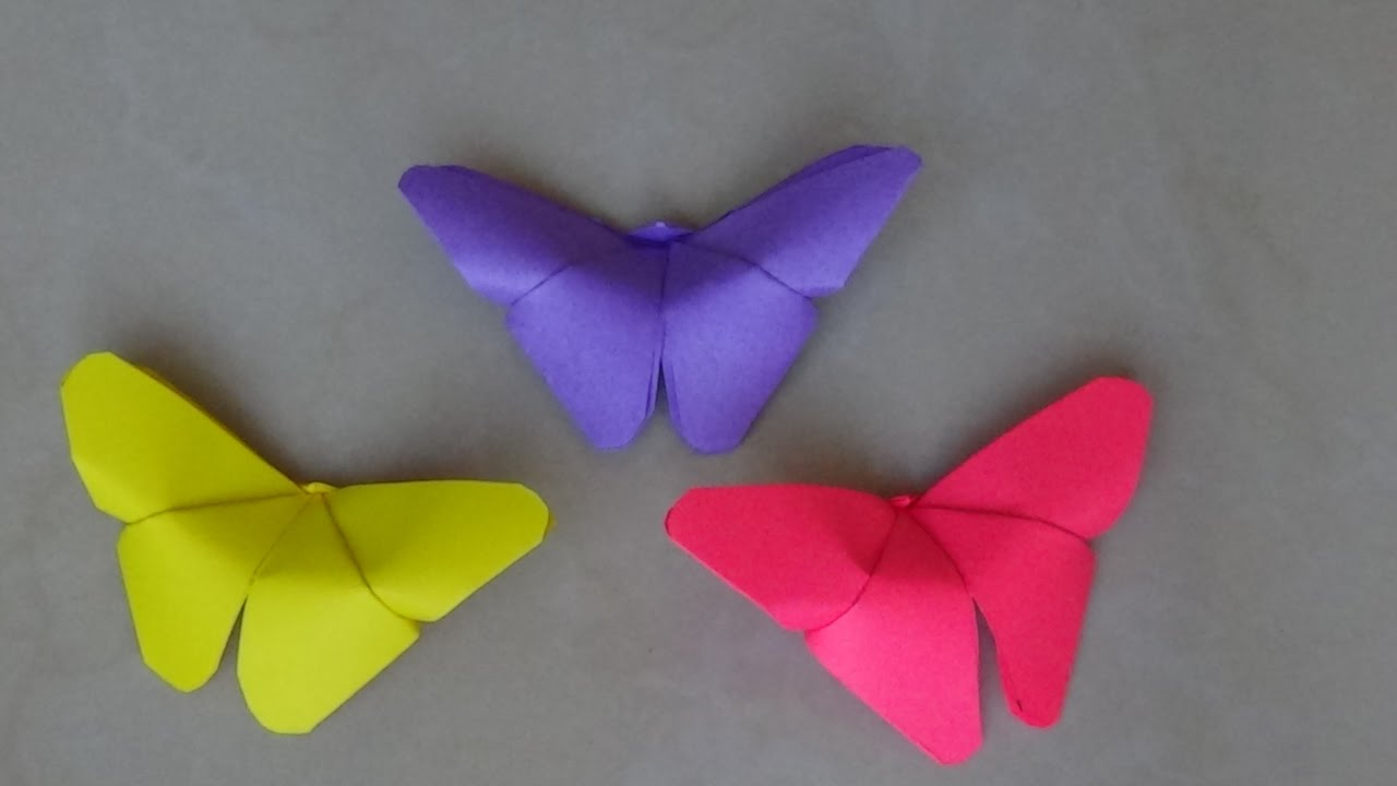 Simple paper craft for preschoolers Simple And Easy Paper Crafts Paper Butterfly Kids Crafts Origami