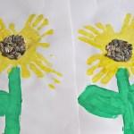 Sunflower Paper Plate Craft Handprint Sunflowers Mommyapolis