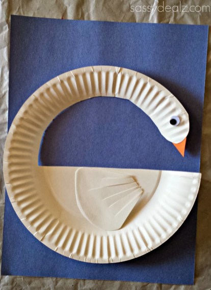 Swan Paper Craft Diy Swan Paper Plate Craft For Kids Crafty Morning