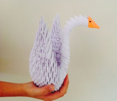 Swan Paper Craft How To Make A 3d Paper Origami Swan 7 Steps With Pictures