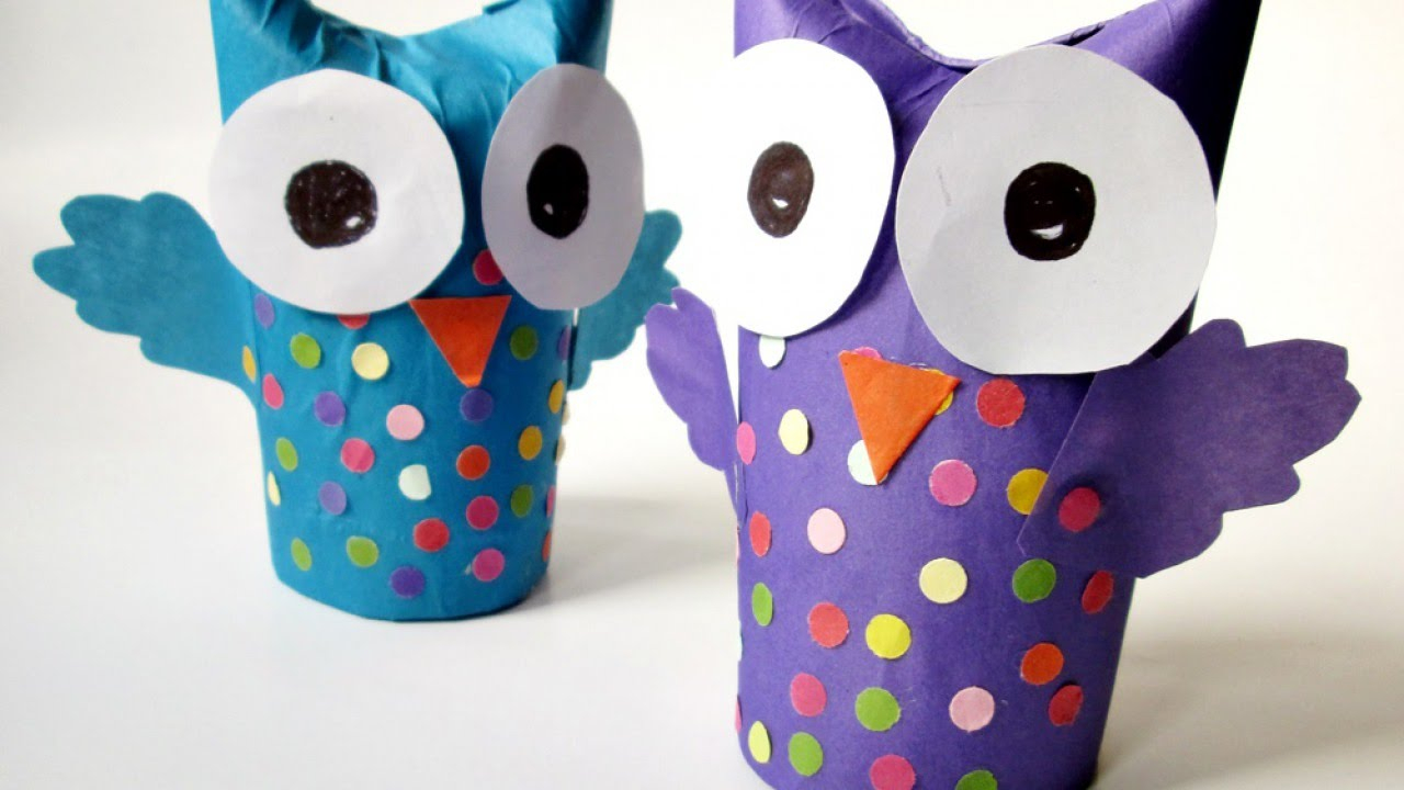 The simple paper owls crafts idea How To Make A Wonderful Recycled Tissue Paper Roll Owl Diy Crafts Tutorial Guidecentral