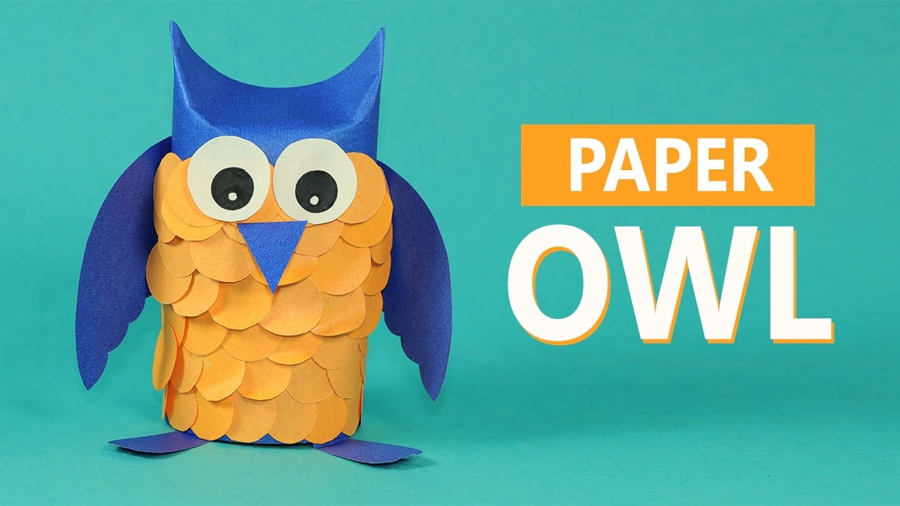 The simple paper owls crafts idea Kids Crafts Paper Animals Paper Owl Craft For Kids Youtube