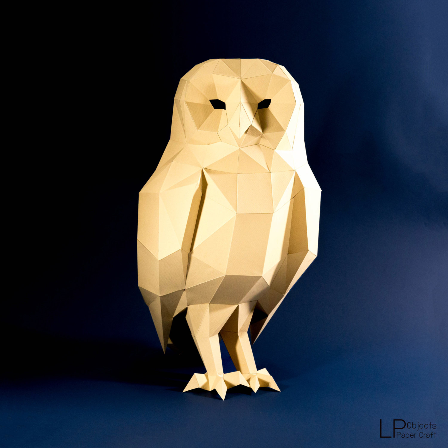 The simple paper owls crafts idea Owl Model Owl Low Poly Owl Sculpture Owl Paper Etsy