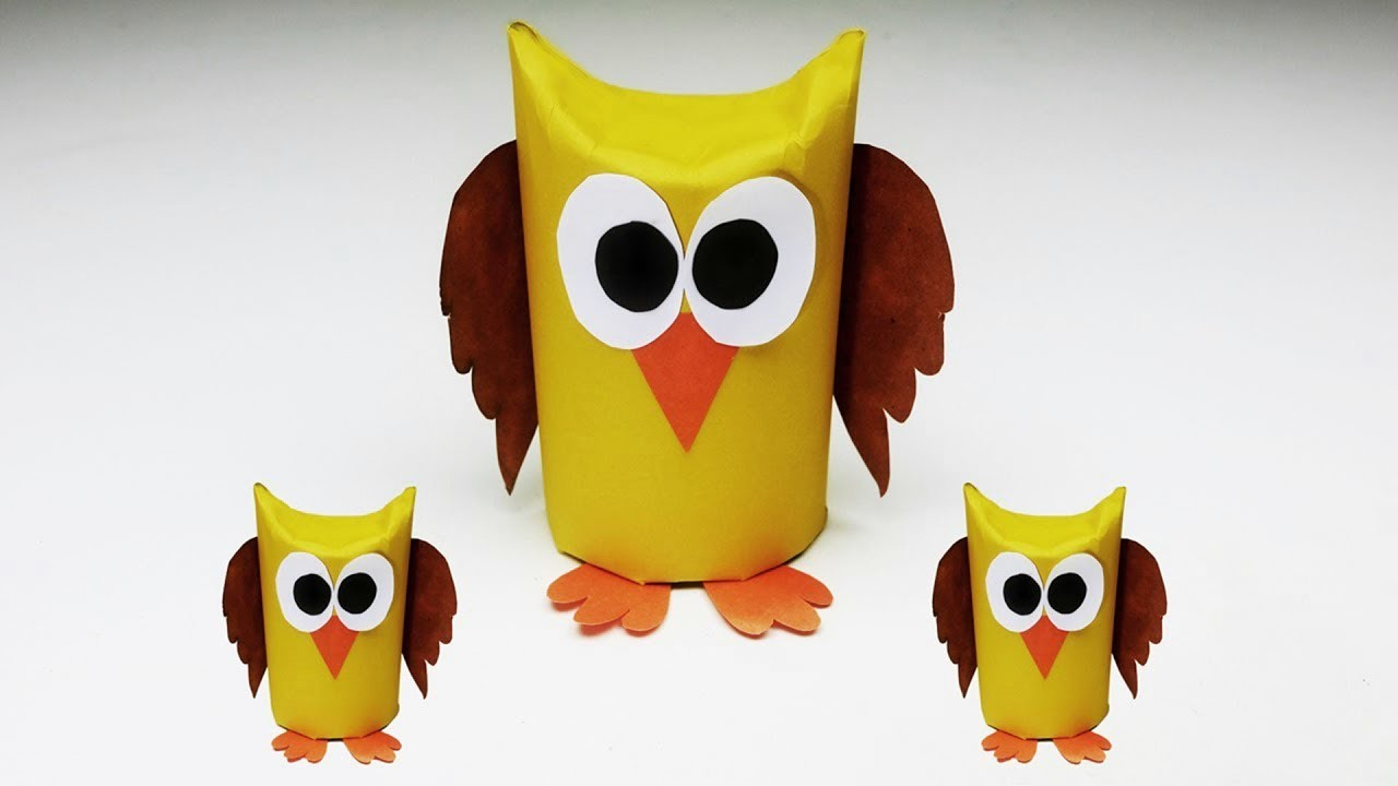 The simple paper owls crafts idea Paper Owl Crafts Origami Owl Easy Paper Craft Animals Popular Craft
