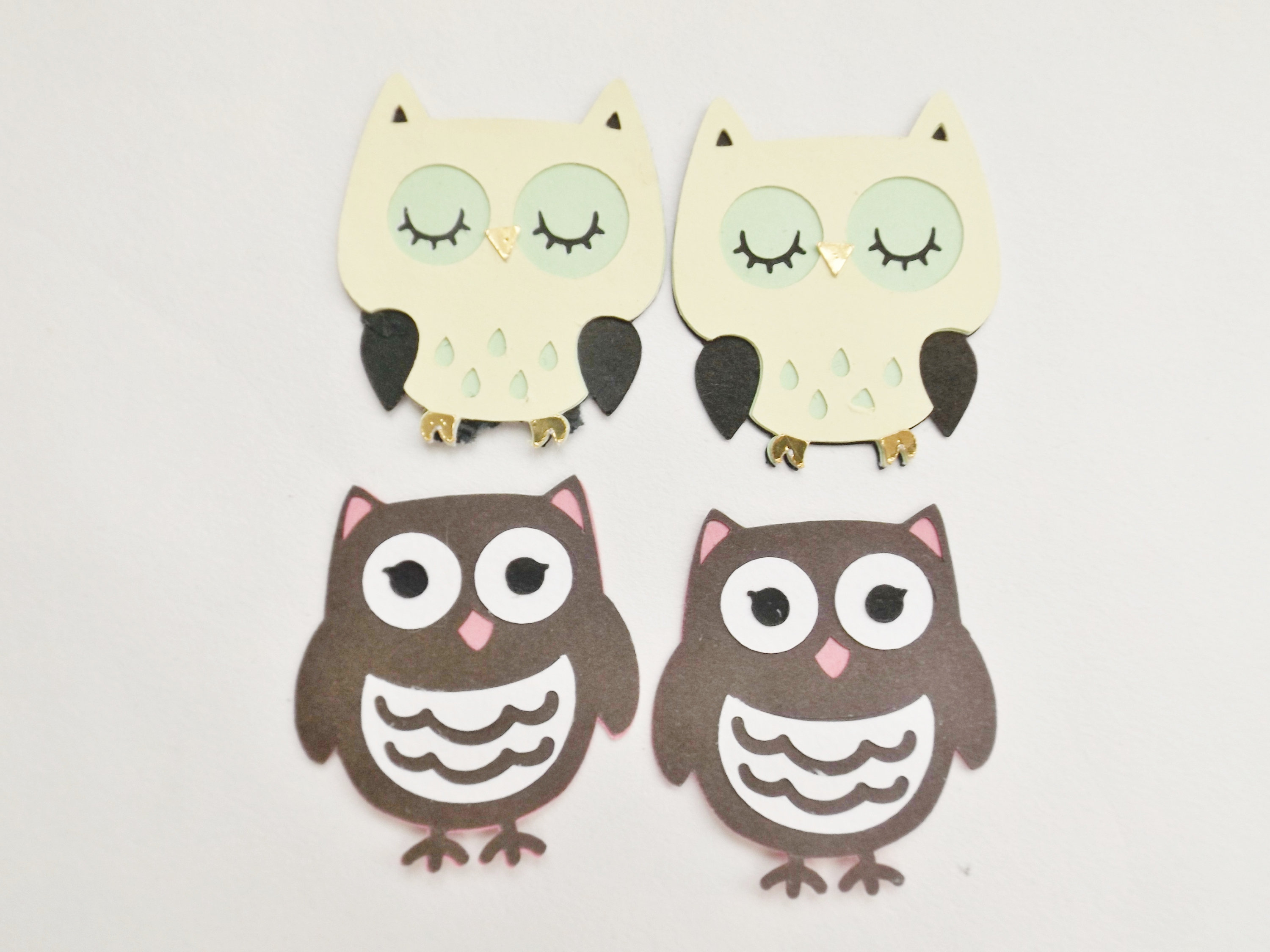 The simple paper owls crafts idea Paper Owl Embellishments Bird Scrapbook Card Making Toppers Etsy