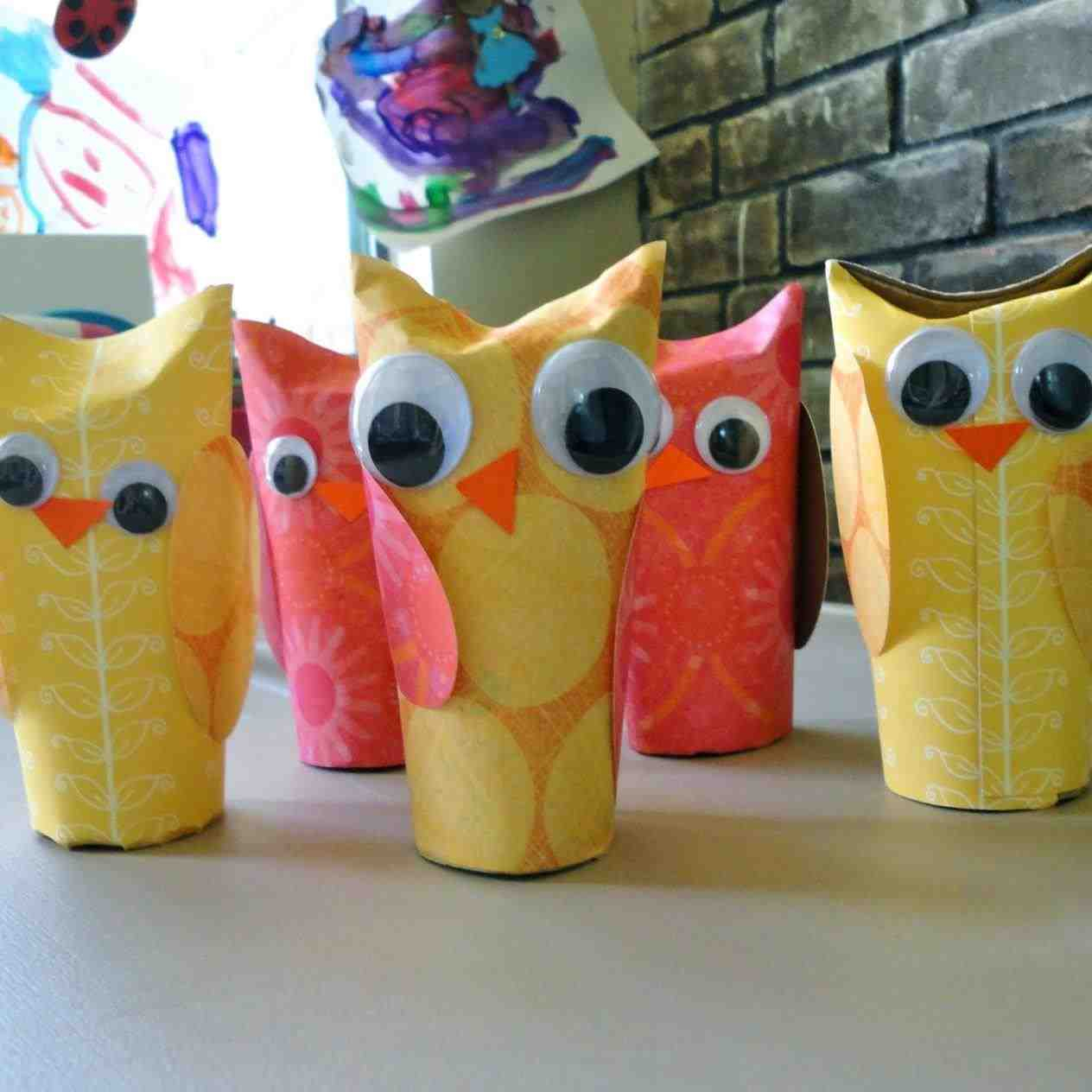 The simple paper owls crafts idea Recycled Paper Owl Super Easy To Make Just Use A Recycled Toilet