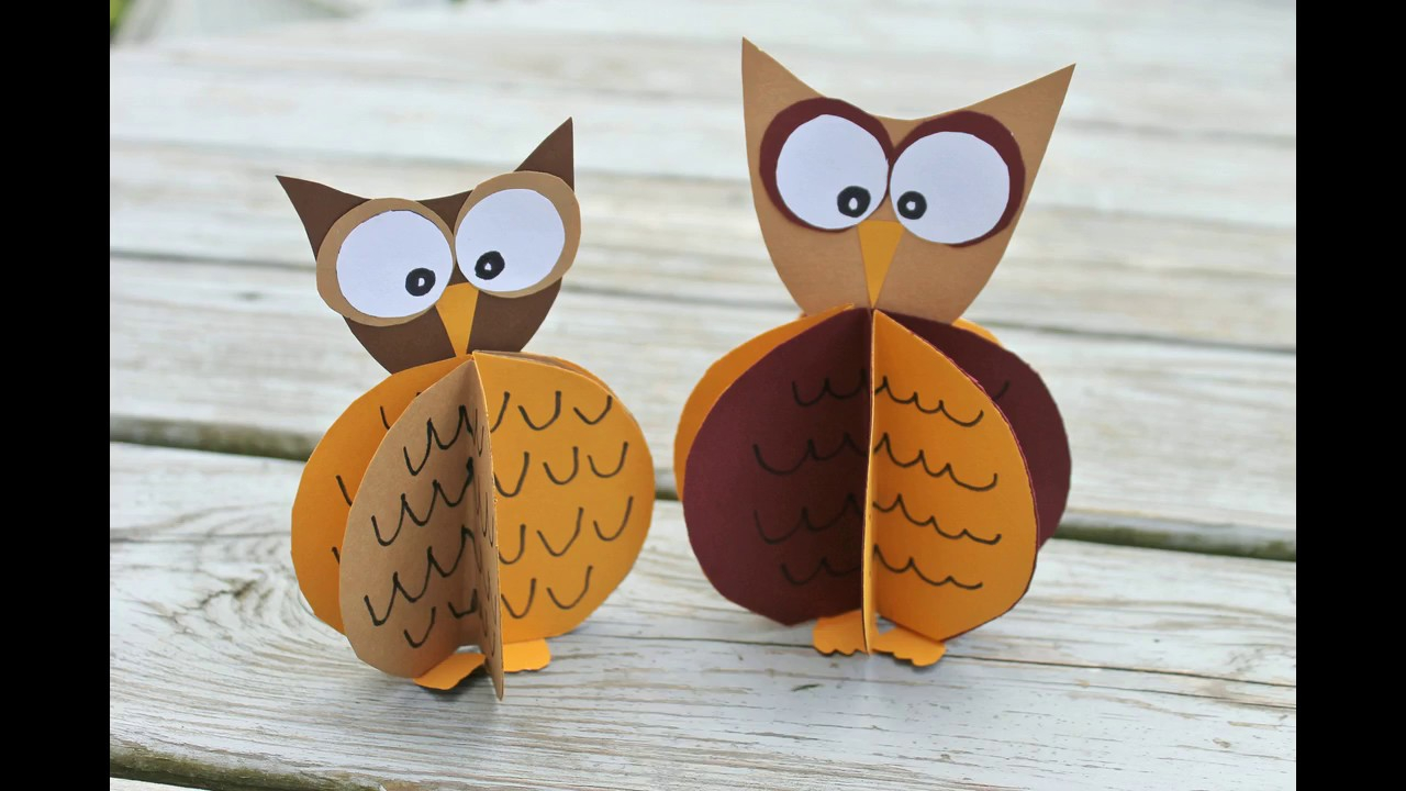 The simple paper owls crafts idea Standing Paper Owl Crafts The Pinterested Parent