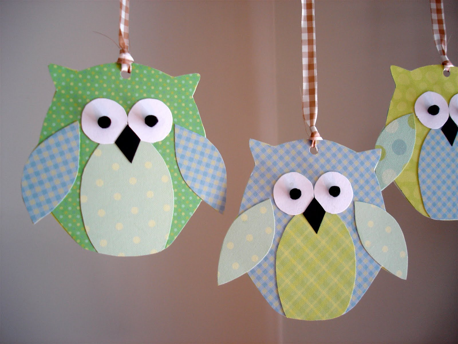 The simple paper owls crafts idea We Did It Wednesday Sew Much Ado