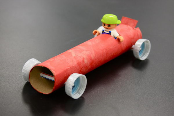 Toilet Paper Roll Car Craft for Preschool Students